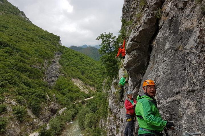 Via ferrata Rugovska gorge