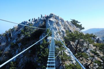 hanging bridge over Ferrata Berim